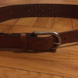 Other - Leather belt with metal dots